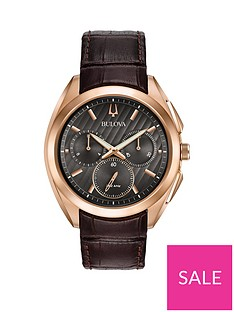bulova-bulova-curv-black-and-rose-gold-detail-chronograph-dial-brown-leather-strap-mens-watch