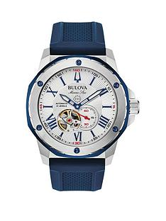 bulova-silver-and-blue-detail-automatic-skeleton-eye-dial-blue-leather-strap-mens-watch
