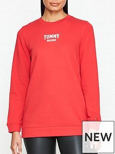 tommy-hilfiger-tyara-long-sleeve-logo-sweatshirt-red