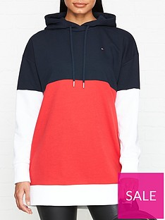 tommy-hilfiger-talina-long-sleeve-colourblock-hoodie-navy