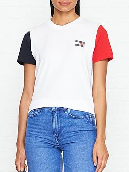 tommy-hilfiger-talitanbspcolourblock-short-sleeve-t-shirt-white