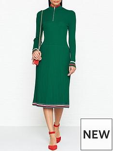 tommy-hilfiger-jessahnbsppleated-knit-dressnbsp--green