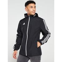 Tiro 3 S Hooded Jacket   Black by Adidas