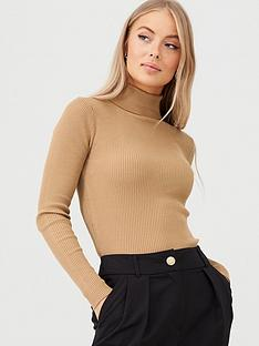 v-by-very-skinny-rib-roll-neck-jumper-camel