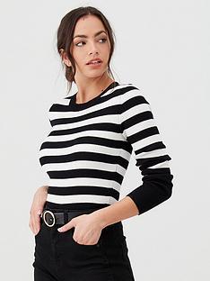 v-by-very-skinny-rib-crew-neck-jumper-stripe