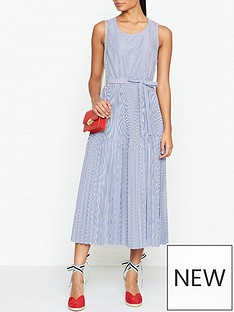 tommy-hilfiger-daisy-pleated-sleeveless-midi-dress-blue