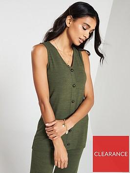 v-by-very-soft-knit-button-co-ord-vest-khaki