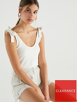 v-by-very-ribbed-vest-co-ord-cream