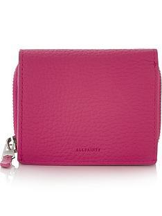 allsaints-captain-small-purse-fuschia