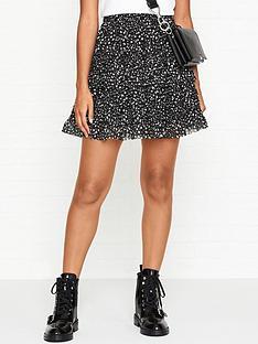 allsaints-sanse-pippa-skirt-black