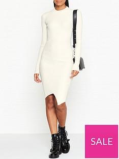 allsaints-amara-long-sleeve-rib-knit-dress-white