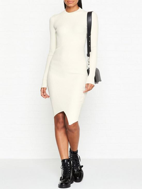 d2277957 Amara Long Sleeve Rib Knit Dress - White