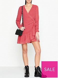 allsaints-flores-heart-print-wrap-dress-red