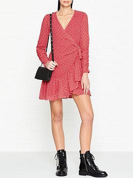allsaints-flores-heart-print-wrap-dress-red