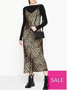 allsaints-hera-layered-leopard-slip-dress-black