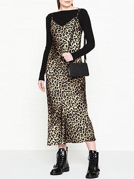 allsaints-hera-layered-leopard-slip-dress-black