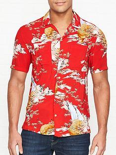 allsaints-indo-tiger-print-short-sleeve-shirt-red