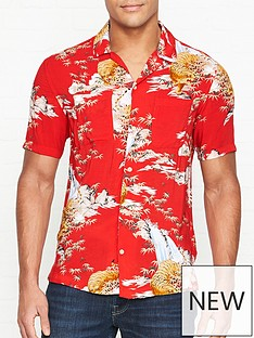 allsaints-indo-tiger-print-short-sleeve-shirt-red