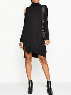 allsaints-cecily-cold-shoulder-knitted-dress-black