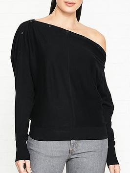 allsaints-elle-button-detail-jumpernbsp--black