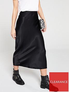 v-by-very-satin-bias-midi-skirt-black