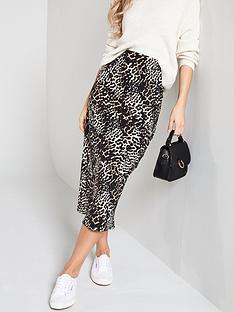 caf34a806e68 V by Very Printed Bias Midi Skirt - Leopard