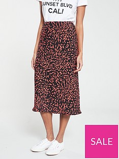 v-by-very-printed-bias-midi-skirt-orange-print