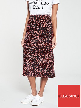 v-by-very-printed-bias-midi-skirt-orange-print