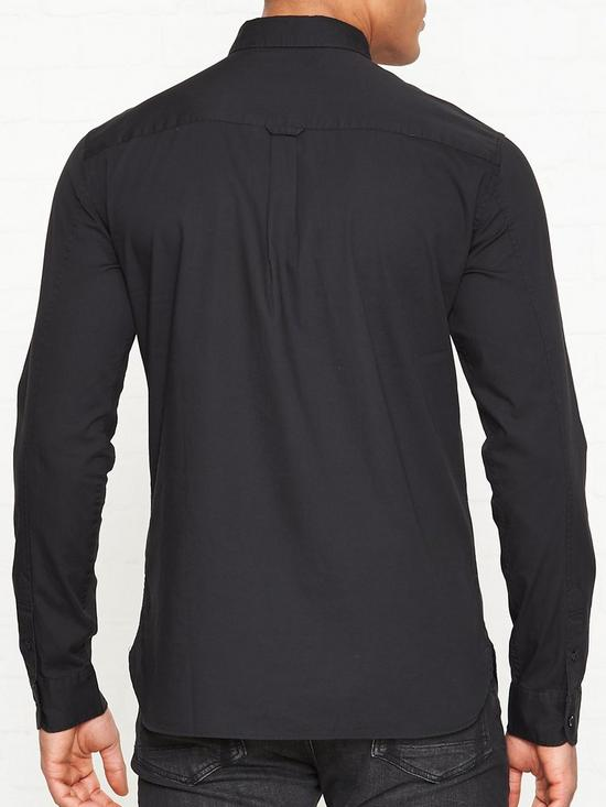 944572d11abb AllSaints Redondo Long Sleeve Shirt - Black | very.co.uk