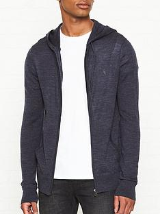 allsaints-mode-merino-zip-through-hoodienbsp--navy