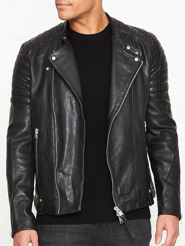 6314c59da Jasper Leather Biker Jacket - Black