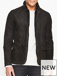 allsaints-survey-leather-blazer--nbspanthracite-grey