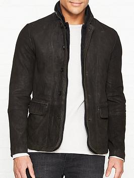 allsaints-survey-leather-blazer--nbspanthracite-grey