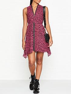 allsaints-jayda-roar-leopard-print-dress-pink