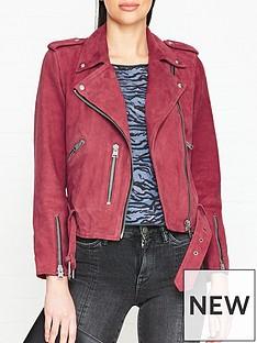 allsaints-balfern-suede-biker-jacket-pink