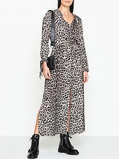 1e01438e68b3 AllSaints Kristen Leopard Print Maxi Dress - Leopard