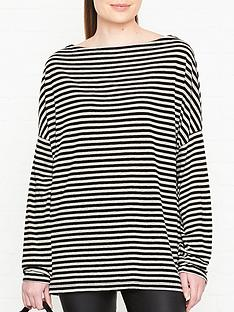 allsaints-rita-long-sleeve-stripe-top-off-whiteblack