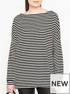 allsaints-rita-long-sleeve-stripe-top-off-whiteblack