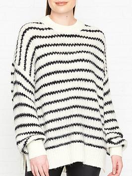 allsaints-renne-stripe-jumper-whiteblack