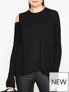 allsaints-ria-button-detail-jumper-black