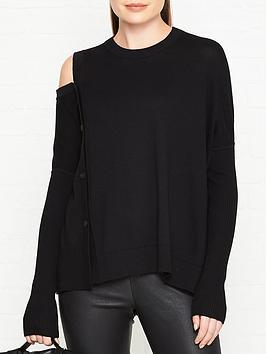 allsaints-ria-button-detail-jumper-black