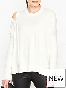 allsaints-ria-button-detail-jumper-white