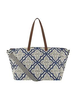 accessorize-nomad-woven-weekender-blue