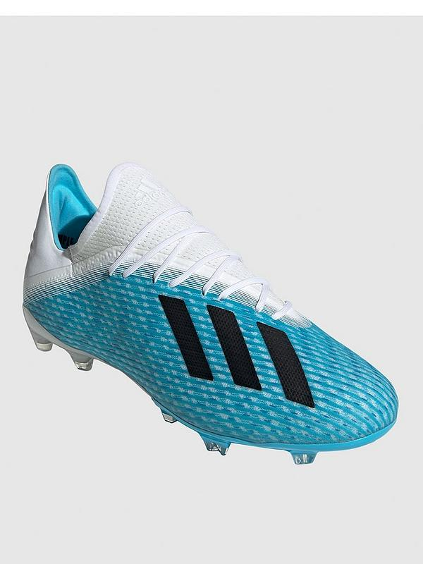X 19.2 Firm Ground Football Boot - Blue/White