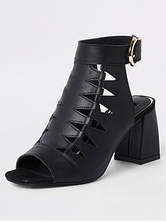 c875aaec918d2 River Island Cut Out Shoeboot - Black