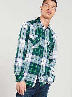 diesel-long-sleeved-checked-shirt-green-check