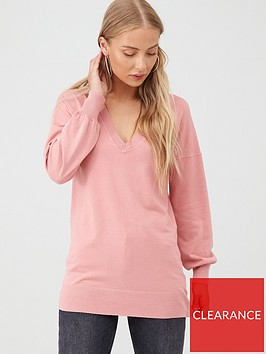 v-by-very-blouson-sleeve-jumper-dusty-pink