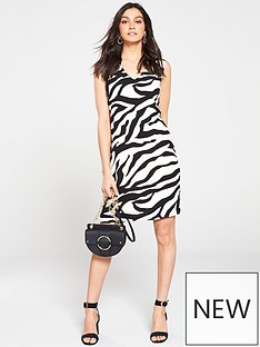 4dca670b94 Wallis Graphic Zebra Shift Dress - Monochrome