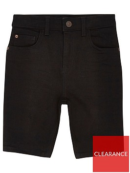 river-island-boys-sid-skinny-shorts-black
