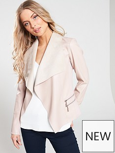 906e82cafdb9e Wallis Adele Pu Waterfall Jacket